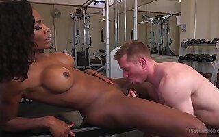Interracial fucking in the gym with busty ebony Natassia Dreams