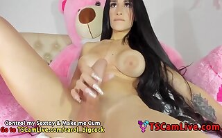 Big Shafted T-babe Carolina Soto Jerking Deprive of the rights of Webcam